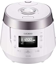 Cuckoo CRP-P1009SW Electric Heating Pressure Rice Cooker, 15.60 x 11.40 x 11.60in, White
