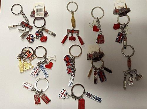 DEALBOX12 pcs London LandMark Souvenir KeyRing 3D...