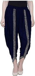 Women/Girls/Ladies Cotton/Rayon Linen Solid Dhoti Full Length Lace Solid Plain Dhoti Pant For Patiala Salwar For Women-Re...
