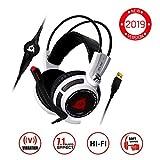 KLIM Puma - Micro Casque Gamer - Son 7.1 - Audio Très Haute Qualité - Vibrations Intégrées -...