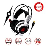 KLIM Puma Gaming Headset - USB 7.1 Kopfhörer - Integrierte Vibrationen - Mikrofon - Für PC Mac PS4...