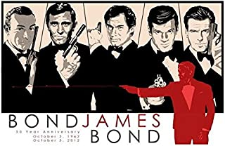 Tomorrow sunny 51 James Bond 007 Skyfall - 50 Years Of James Bond Anniversary art silk Poster 24x36inch home decor