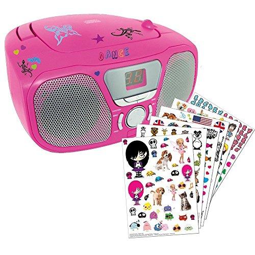 CD46 Tragbares CD-Radio, Kids, pink