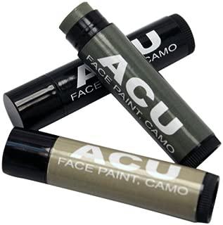 Bobbie Weiner Camouflage 3 Face Paint Sticks Kit, ACU