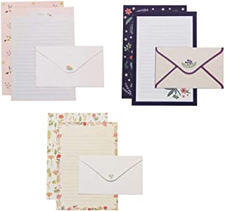 NUOBESTY Envelopes and Writing Letter Papers Vintage Writing Stationery Paper Lovely Writing Stationery Paper Floral Stati...