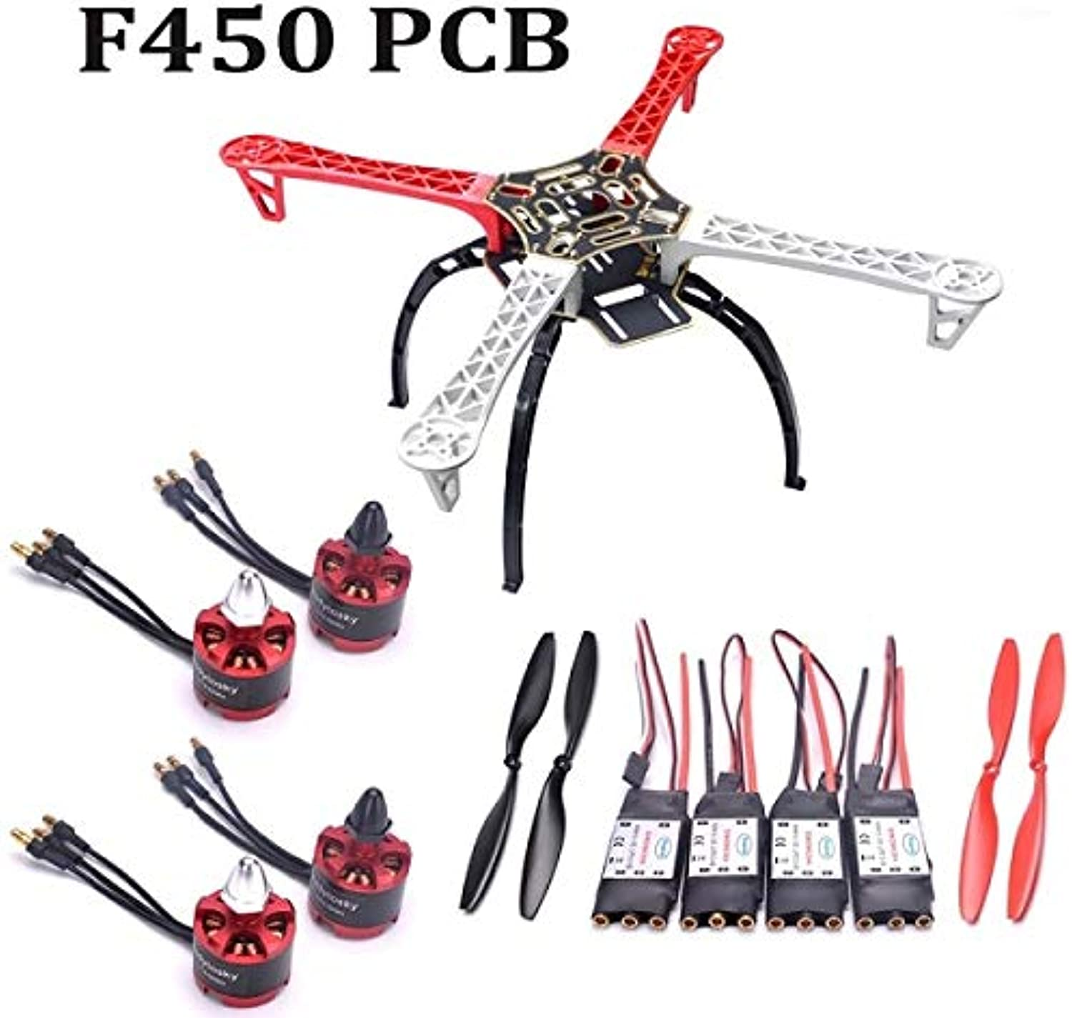Laliva F450 450mm Quadcopter Frame kit with Landing Gear & M Lite Flight Controller Board with M8N GPS 2212 920kv 30A simonk ESC  (color  Choice 1)
