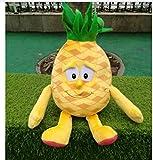 WWWL Juguetes blandos Frutas Verduras de Peluche Suave Bebé Muñecas Educativas Colorido Furit Vegetal 10-35cm Puede Elegir Piña