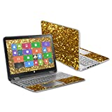 Mightyskins Skin Compatible with Hp Envy X360 15.6' (2014) Wrap Cover Sticker Skins Gold Glitter