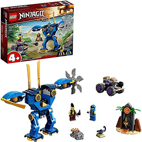 LEGO71740NINJAGOJaysElektro-MechActionfigur,Spielzeugab4Jahren,mitSpinneundNinjaAuto