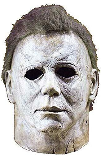Ani·Lnc Máscara de Michael Myers Cosplay de Halloween Horror Máscara de Cara Completa Película de Terror Personaje Adultos Juguete de Cosplay Accesorios