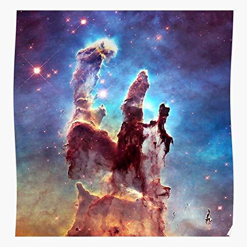 MADEWELL Elon Creation Dope Spacex NASA of Pillars Colorful Musk Space Mars Das eindrucksvollste und stilvollste Poster für Innendekoration, das derzeit erhältlich ist