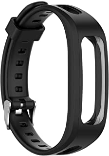 Compatible with Huawei Band 4e/Honor 4 Running Edition Smartwatch Bands, Waterproof Durable Silicone Sport Strap Replacement Compatible with Huawei Band 4e/Honor 4 Running (Black)