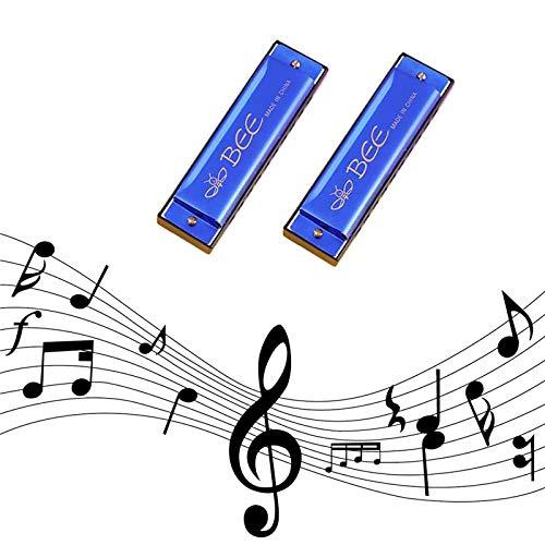 2 Stück Mundharmonika, Mundharmonika für Kinder, 10-Loch diatonische Harmonika,...