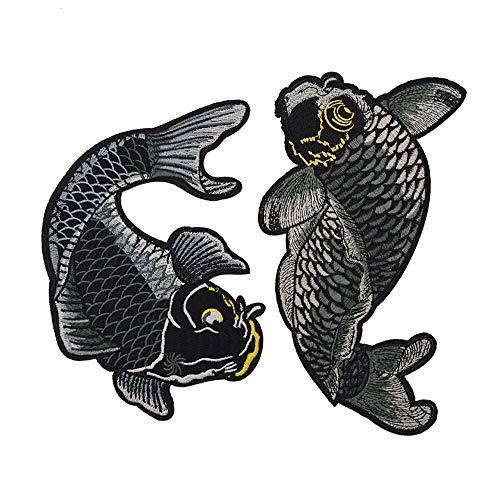 Aqiong Jubaren7 1 Juego Pescados Koi Bordado