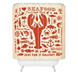 DENY Designs Anderson Design Group Lobster Pattern Shower Curtain, 69