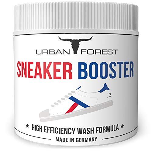 Sneaker Reiniger | Schuhdeodorant | Schuhcreme farblos | Schuh-Pflege & Schuh-Reinigung | Sneaker Cleaner & Refresher & Schuh Wachs EINZELN & ALS SPARSET | URBAN Forest (250ml Sneaker Booster)