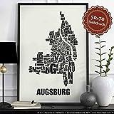Augsburg Buchstabenort Schwarz auf Naturweiß