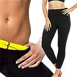 Dr.CURVY Mujer Leggings Deportivos Calzas para Adelgazar Sauna Pantalones Gimnasio Yoga Promueve SudoraciónL