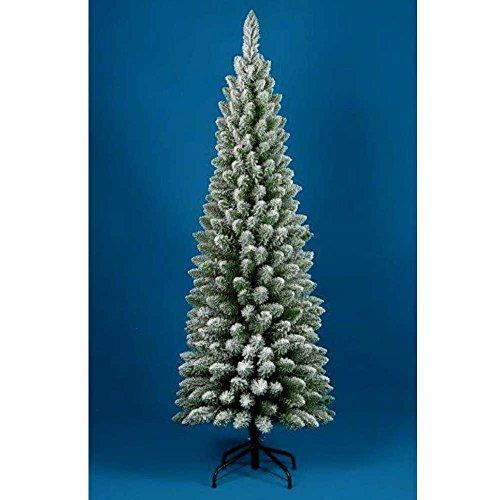 Albero di Natale INNEVATO 180CM Slim PENICEL FOLTO Ecologico PVC 326 RAMETTI