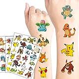 Pika_chuu Temporary Tattoos for Kids, Cute Cartoon Tattoos for Kids 10 Sheets Waterproof Anime Fake...