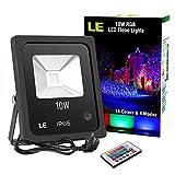 LE Foco LED RGB de 10W, 16 Colores y 4 Modos, Foco Proyector...