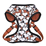Peanuts Charlie Brown Snoopy Red Hundegeschirr, Medium | Weiß Hundegeschirre mit roten Funktionen, Hundegeschirr für mittelgroße Hunde | No Pull Hundegeschirr, Hundebekleidung & Zubehör für alle Hunde