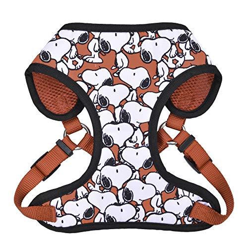 Peanuts Charlie Brown Snoopy Red Hundegeschirr, Größe L | große weiße Hundegeschirre mit roten Funktionen, Hundegeschirr für große Hunde | Hundegeschirr, Hundebekleidung & Zubehör für alle Hunde