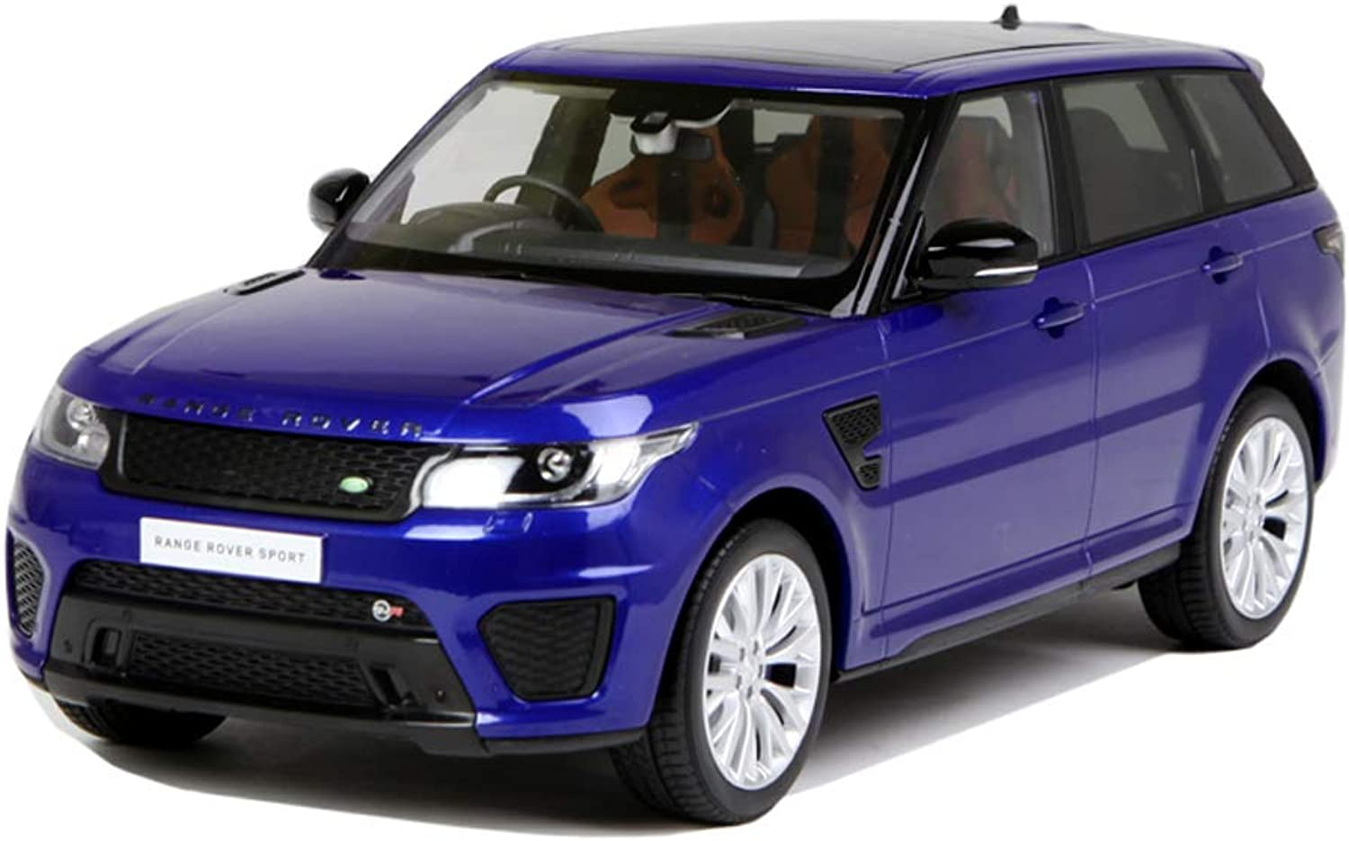 JIANPING Model Car Land Rover Range Rover Off-road Vehicle 1 18 Simulation Die-casting Alloy Toy Car Model Static Car Decoration Model car (color   bluee)