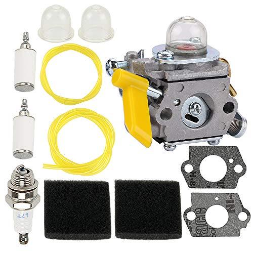 308054077 308054043 Carburetor for Ryobi EX26 SS26 SS30 Carburetor Homelite 308054015 308054028 308054034 309368003 985624001 25cc 26cc 30cc Hedge String Trimmer Blower Chainsaw & 900952001 Air Filter