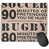 Tapis de Souris de Jeu Mignon, Tapis de Souris de Bureau, Tapis de Souris Football Soccer Vs Rugby Hurt Flop Australie Angleterre Homme