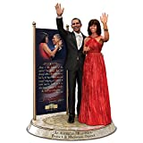 The Bradford Exchange Barack and Michelle Obama Commemorative Tribute Hand-Painted Sculpture