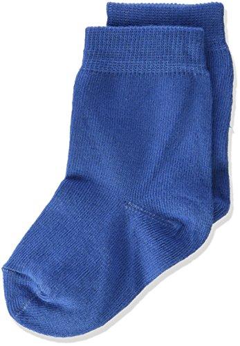 Melton Baby-Jungen 3er Pack Kinder Basic Unifarben Socken, Blau (Delft Blue 239), 19