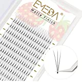 EMEDA 3D Volume Lash Extensions .10mm C Curl 9-15mmMixed Tray Premade Volume Eyelash Extensions Short Stem Small Thinner Base Russian Volume Pre Made Lash Fans (3D 0.10 C 9-15 Mix)