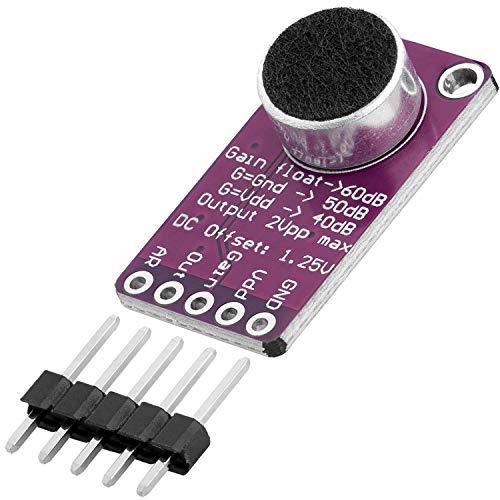 AZDelivery Max9814 Mikrofon AGC Amplifier Verstärker Modul kompatibel mit Arduino inklusive E-Book!
