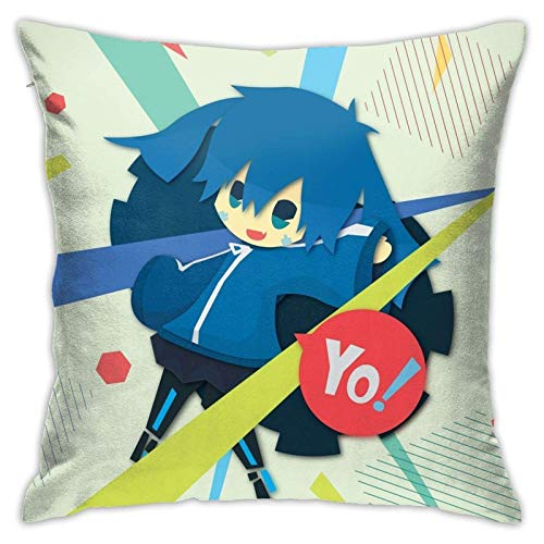 xiancheng Kagerou Project - Ene Decoration Pillow Cover Traditional Pillow Case for Bar Cafe Holiday Pilloase with Hidden Zipper Two Sides