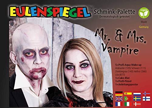 Eulenspiegel Herr und Frau Vampir Schminkpalette