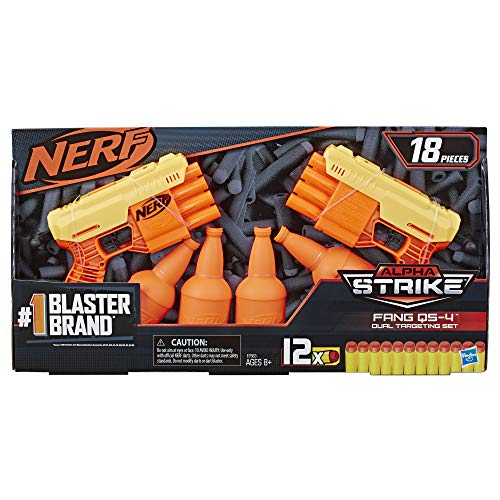 NERF Alpha Strike Fang QS-4 Two Blaster Set 18 Piece Dual Target