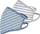PR BAZAAR Mund-Nasen-Abdeckung, 100% Baumwolle, wiederverwendbar, bei 60° waschbar, 2er-Set, farbige Streifen