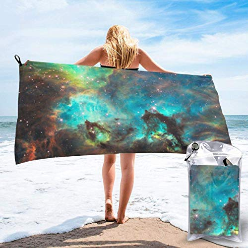 shenguang Universe Galaxy Space Nebula Printed Travel Quick Dry Bath Towels Sports Gym Microfiber Beach Towels Camping Swimming Compact Towel