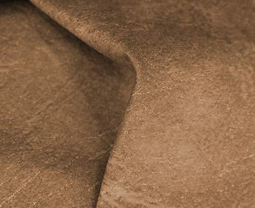 HAPPERS 1 Metro de Polipiel para tapizar, Manualidades, Cojines o forrar Objetos. Venta de Polipiel por Metros. Diseño Sugan Color Cuero Ancho 140cm