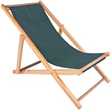 High-quality recliner Zero Gravity Chair Outdoor Wood Folding Deck Chair, Siesta Chaise Sun Lounger Collapsible Recliner Chair for Balcony Beach Garden Sun Lounger (Color : Green)