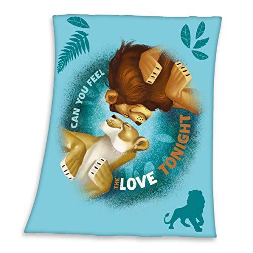 Herding Disney's König der Löwen Fleece-Kuscheldecke, 130 x 160 cm, Polyester, Gesäumt