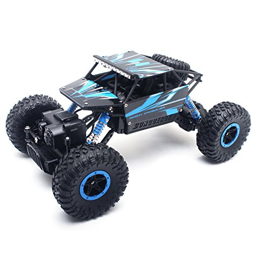 Cheerwing 1:18 Rock Crawler 2.4Ghz Remote Control Car 4WD Off Road RC Monster Truck Blue