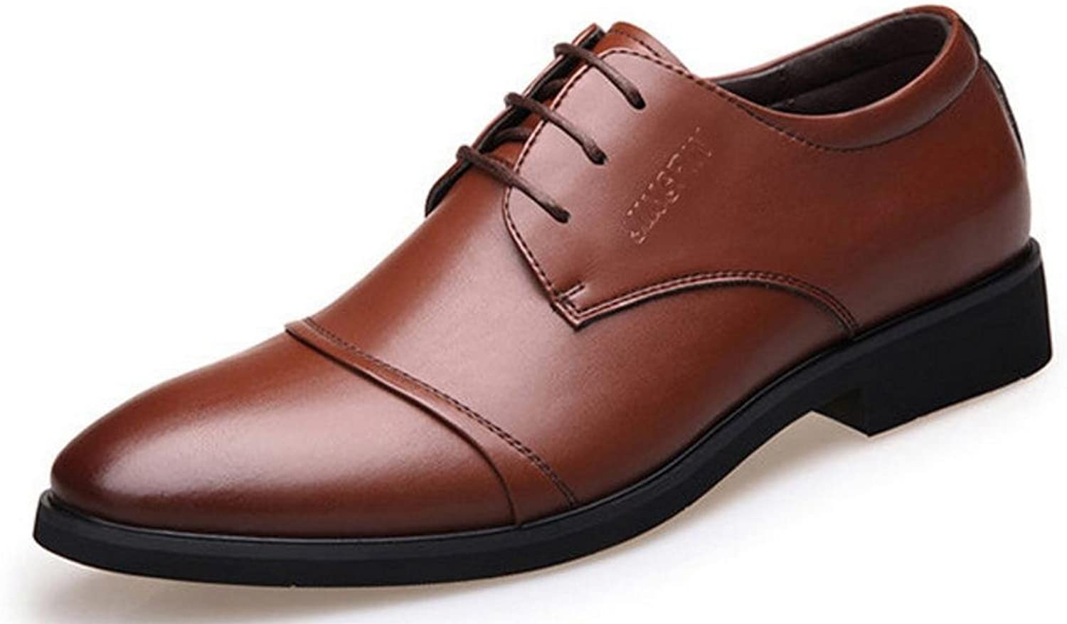 Xwzg Men S Leather Business Dress Casual Shoes Office Lace