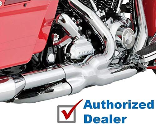 RPM Compatible with Chrome Vance & Hines True Power Duals Exhaust Headers 2009-2016 Harley Touring