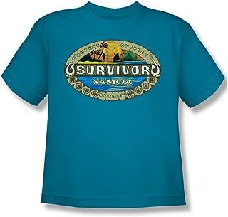 Cbs - - Survivor / Samoa Logo Camiseta de la juventud en turquesa