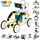 CAPKIT 13-in-1 STEM Solar Robot Kit,Science Kits for Kids,Educational DIY Building Toys Birthday Gift for Boys Girls,Stem Projects for Kids Ages 8-12,Learning Craft Robotics Kit Powered by Solar