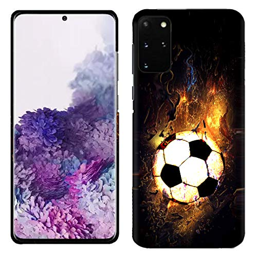 Glisten Samsung Galaxy A51 Case - Soccer On Fire Printed Slim Fit & Cute Plastic Hard Snap on Designer Back Galaxy A51 Case/Cover [Not for A51 5G]