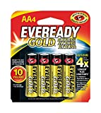 Eveready Gold Alkaline Batteries AA, 4-Count