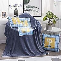 多機能豪華な毛布の正方形の枕のキルトのサボテンの模様のホームベッドオフィス車の枕クッション、多機能の毛布、サイズ:L ブランケット blanket 暖かい 軽量 Zoe's Shop